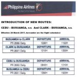INTRODUCTION OF NEW ROUTES:  CEBU – BUSUANGA, v.v. and CLARK – BUSUANGA, v.v.